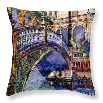 Moorish Bridge Throw Pillow