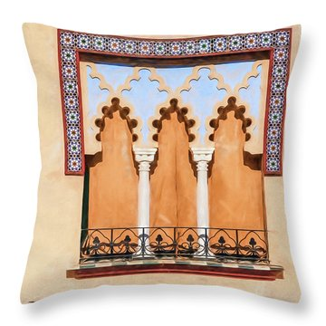 Moorish Window II Throw Pillow