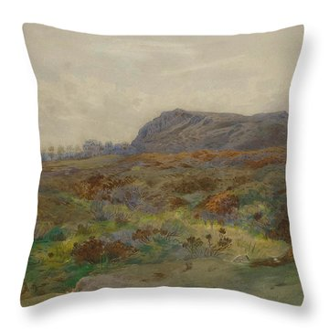 Moorland Landscape By Thorburn Throw Pillow