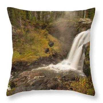 Moose Falls Throw Pillow