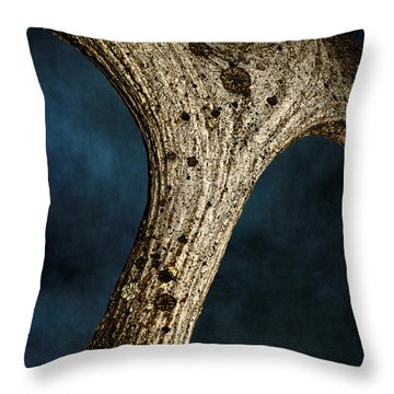 Moose Horn Curves Throw Pillow