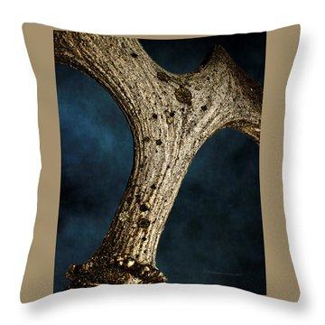 Moose Horn Curves Throw Pillow