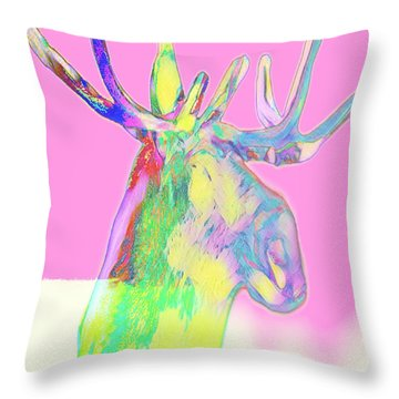 Moosemerized Throw Pillow
