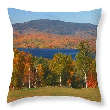 Moosehead Lake In Autumn Throw Pillow