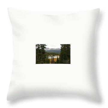 Moosehorn Lake Throw Pillow