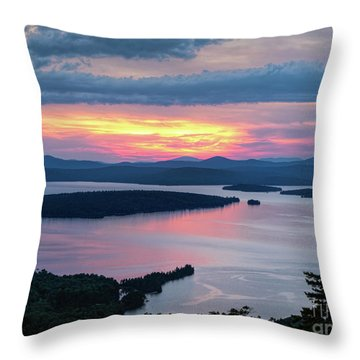 Mooselookmeguntic Lake In The Last Light Of Day - Rangeley Me  -63430 Throw Pillow