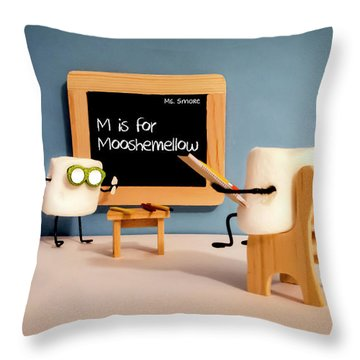 Throw Pillow featuring the photograph Mooshemellow by Heather Applegate
