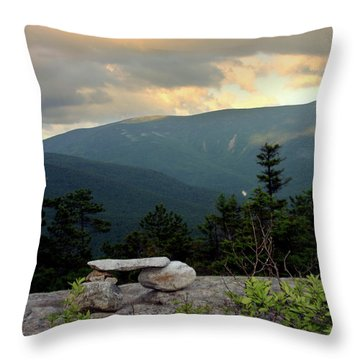 Moosilaukee View From Bench On Blueberry Mt. Throw Pillow