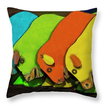 Throw Pillow featuring the photograph Mooving On by Paul Wear