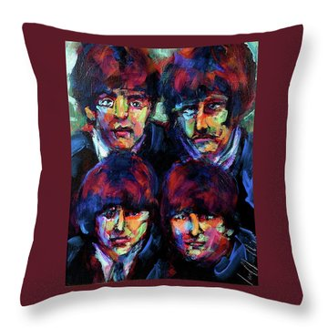 Mop Tops Throw Pillow