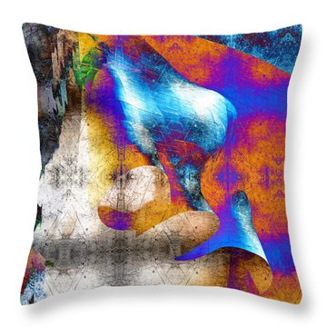 Throw Pillow featuring the photograph Mopop by Michael Hope