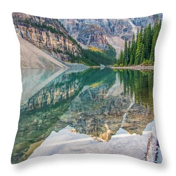 Throw Pillow featuring the photograph Moraine Lake 2009 04 by Jim Dollar
