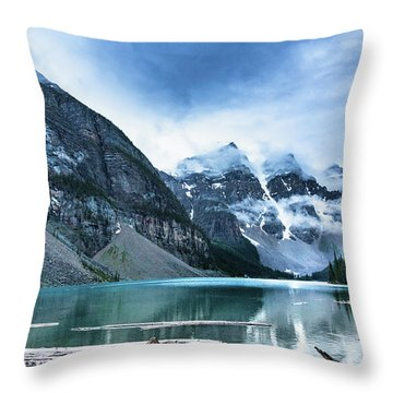 Moraine Lake Blues Throw Pillow