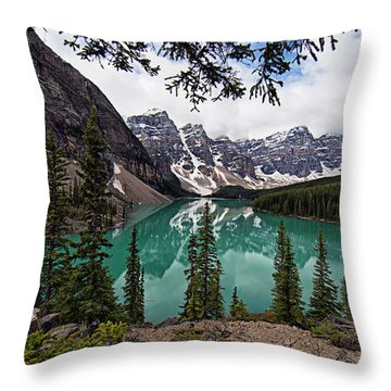 Throw Pillow featuring the photograph Moraine Lake by Joe Paul