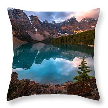 Moraine Mornings  Throw Pillow