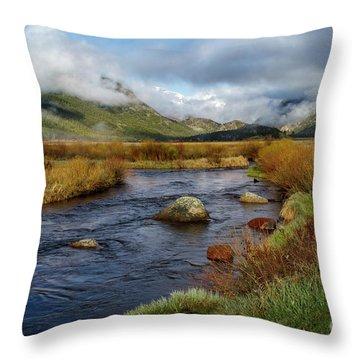 Moraine Park Morning - Rocky Mountain National Park, Colorado Throw Pillow by Ronda Kimbrow