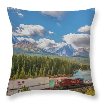Throw Pillow featuring the photograph Morant's Curve 2009 04 by Jim Dollar