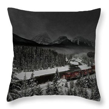 Morant's Curve - Winter Night Throw Pillow
