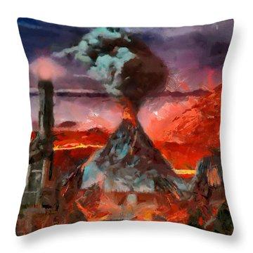 Mordor Panorama Throw Pillow
