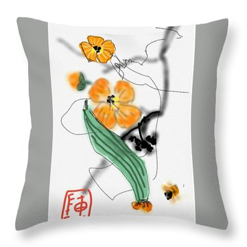More Bitter Melon  Throw Pillow