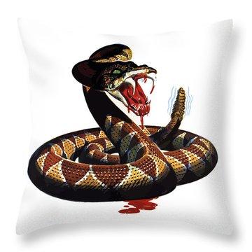 More Dangerous Than A Rattlesnake - Ww2 Throw Pillow