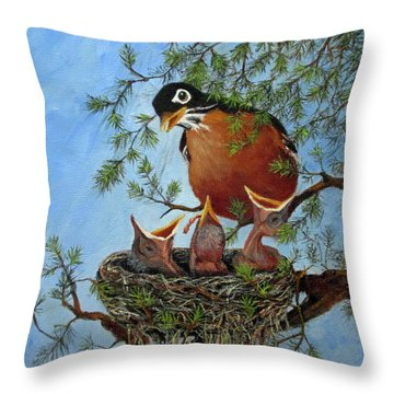 More Food Throw Pillow by Roseann Gilmore
