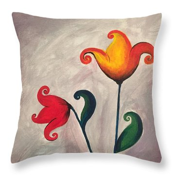 More Fun Flowers -a Throw Pillow