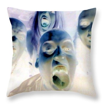 More Gouls And Gobblins Throw Pillow