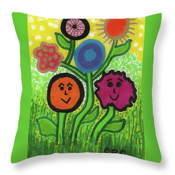 More Happy Days Throw Pillow