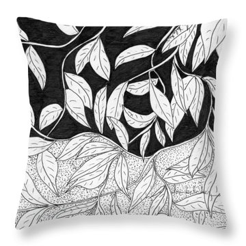 More Leaves Throw Pillow
