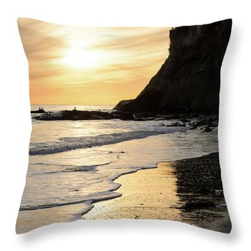 Throw Pillow featuring the photograph More Mesa Sunset West by Tim Newton