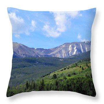 More Montana Mountains Throw Pillow
