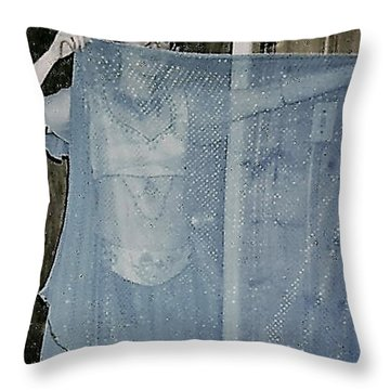 Throw Pillow featuring the photograph More Peek-a-boo by Denise Fulmer