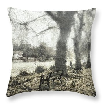 More Than A Bit Arty Throw Pillow