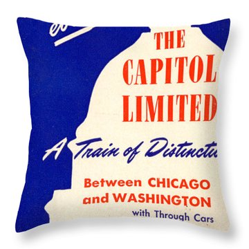 More Than Ever, The Capitol Limited Throw Pillow