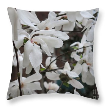 Throw Pillow featuring the photograph More White Blossoms by Rod Ismay