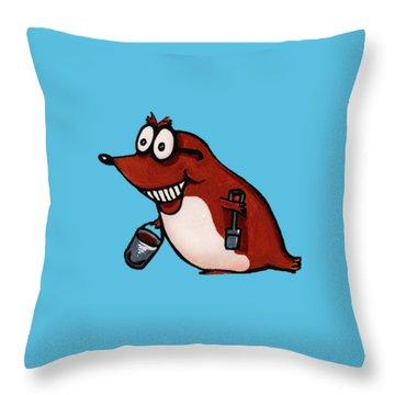 Morecambe Mole Throw Pillow