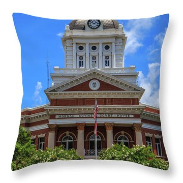Morgan County Court House Throw Pillow