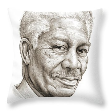 Morgan Freeman Throw Pillow