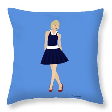 Throw Pillow featuring the digital art Morgan by Nancy Levan