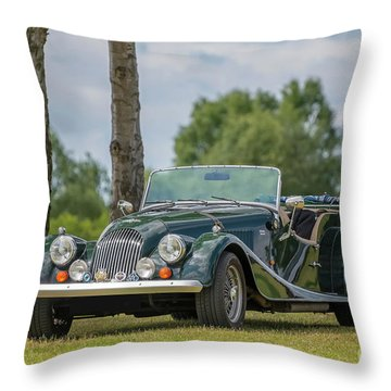 Throw Pillow featuring the photograph Morgan Sports Car by Adrian Evans