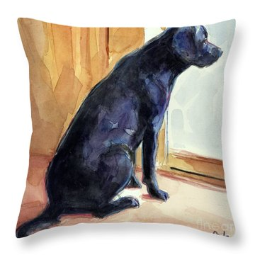 Morgan's View Throw Pillow by Molly Poole