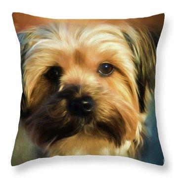Morkie Portrait Throw Pillow
