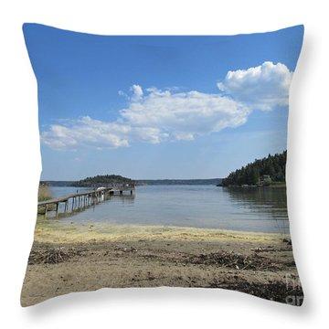Aspvik On Morko Island Throw Pillow