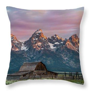 Mormon Row Throw Pillow