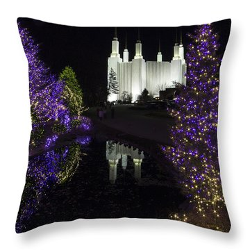 Mormon Temple 1 Throw Pillow