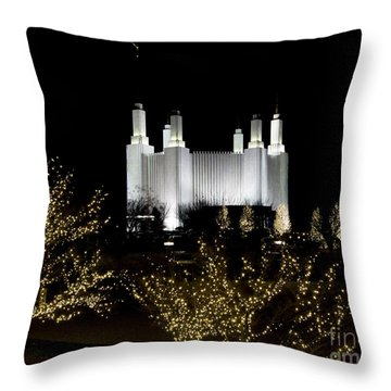 Mormon Temple 2 Throw Pillow