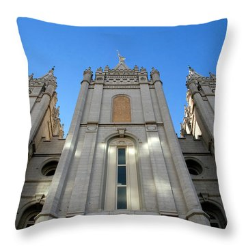 Mormon Temple Throw Pillow by David Lee Thompson