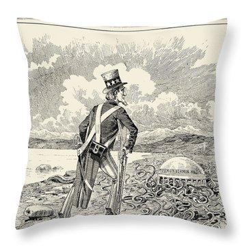 Mormons: Polygamy, 1883 Throw Pillow by Granger