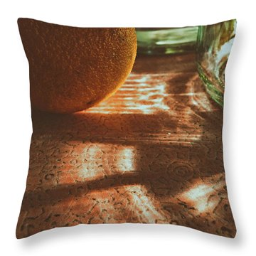 Throw Pillow featuring the photograph Morning Detail by Steven Huszar